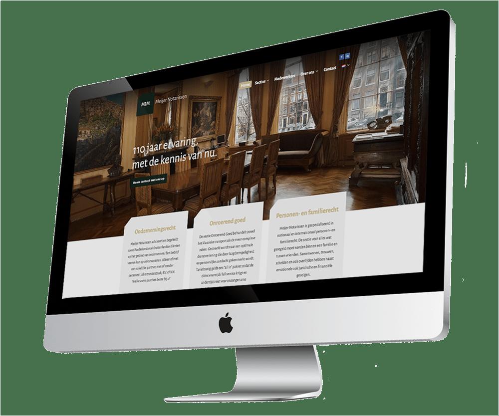 Website op maat Meijer Notarissen - Reclamebureau Buro19