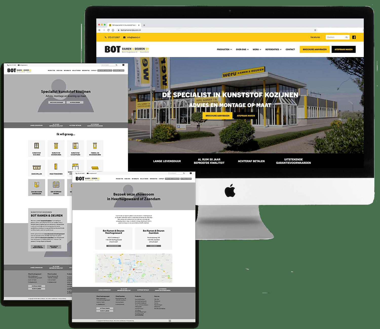 Wireframe en Website Bot Ramen & Deuren - Buro19